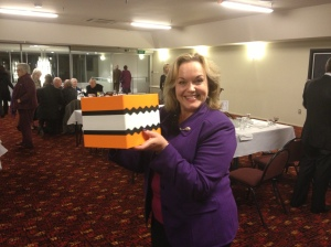 Judith Collins with Kapiti in a Box July 2013